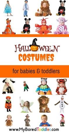 Halloween costume ideas for babies and toddlers. Perfect costumes for toddlers…