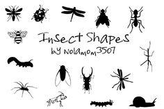 Insect Shapes by Nolamom3507 by Nolamom3507.deviantart.com on @DeviantArt