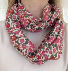 Liberty Print cotton infinity scarf. Crisp light weight cotton. Fabulous to wear. *Ready to ship*