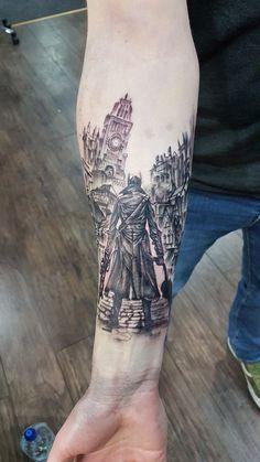 Bloodborne Hunter tattoo – Hunter x Hunter Gamer Tattoos, Love Tattoos, New Tattoos, Body Art Tattoos, Soul Tattoo, I Tattoo, Inspiration Tattoos, Tattoo Ideas, Software Art