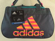 adidas Diablo Small Duffel Women Onix  Solar Gold solar Pink Gym Bag Luggage   8d26524567b82