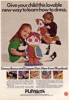 Dressy Bessy & Dapper Dan. How I learned to tie shoelaces.