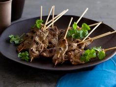 Grilled Beef Satay Recipe | Tyler Florence | Food Network
