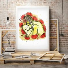 Watercolor Paper, Watercolor Paintings, Madhubani Painting, Palette Knife Painting, Bedroom Art, Love Painting, Erotic Art, Love Art, New Art