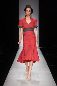 Smart red and black shweshwe design