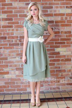 sage green dress maxi wrap modest - Google Search