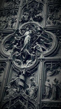 The magnificent gate of the Milan cathedral