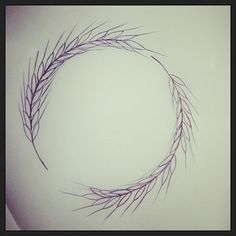 Even better, a wheat design in a perfect circle. | 17 Tasteful And Powerful Tattoos For Virgos