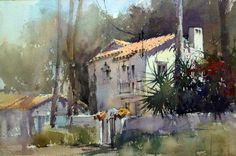 Vladislav Yeliseyev, At Winter Park Fl paint out. Great Spanish houses with elaborate ironwork and bougainvilleas on the side is all I need.