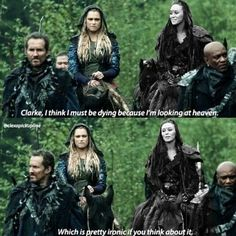 Lexa pick up lines lol Clexa <3