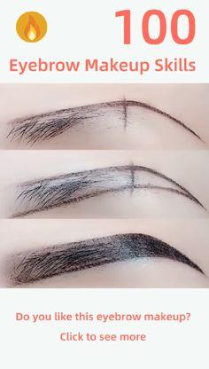 """Z"" eyebrow makeup - Augen Make-Up Best Eyebrow Makeup, Best Eyebrow Products, Eye Makeup Tips, Makeup Videos, Skin Makeup, Makeup Brushes, Eyebrow Tips, Makeup Techniques, Hair Removal"