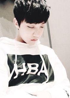 His sleeping face is sooo cute omg