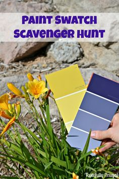 This Paint Swatch Scavenger Hunt for Kids is creative way to spend a summer day. It is a fun kids activity that a group of kids. If you are looking for more boredom busting ideas check out all our summer crafts and activities ideas to keep kids active and entertained this summer! The best craft bloggers are sharing fun kids crafts! Display kids art with this upcycled kids banner or try creating this DIY tic tac toe game keep checking back...