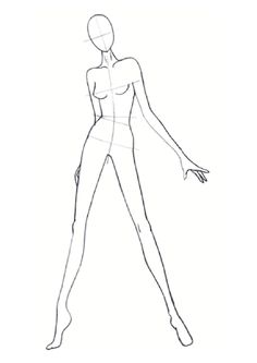 Fashion Illustration – Extensions for Years 7 & 8 - Frauen Mode Fashion Illustration Poses, Fashion Illustration Template, Illustration Mode, Illustration Techniques, Design Illustrations, Fashion Illustrations, Fashion Model Drawing, Fashion Figure Drawing, Fashion Drawing Dresses