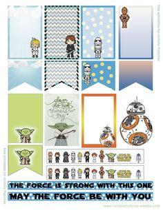 Free Star Wars Planner Stickers - Star Wars Printables - Ideas of Star Wars Printables - Free Star Wars Planner Stickers Free Planner, Planner Pages, Happy Planner, Planner Ideas, Planer Organisation, Midori, Passion Planner, Printable Planner Stickers, Printable Star