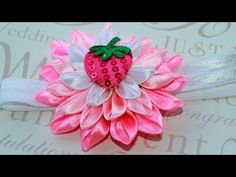 ▶ ▶ decorate the Nursery povyazochku hair / Kanzashi Flowers - YouTube