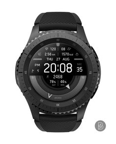 RONIX - Watch face for Samsung Gear / Watchface by Brunen Amazing Watches, Cool Watches, Watches For Men, Stylish Watches, Luxury Watches, Digital Watch Face, Smart Watch Apple, Apple Watch, Smartwatch Bluetooth