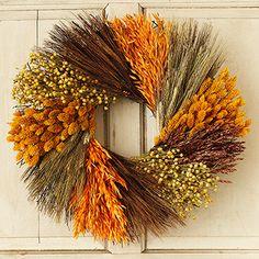 """Fall Grains 18"""" Wreath"""