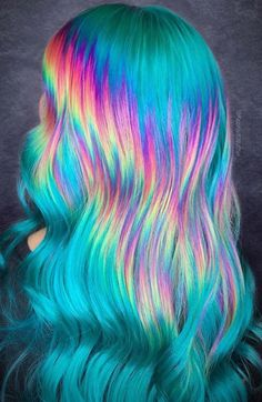 15 Cool Rainbow Hair Color Ideas For Festival Goers It is time to get creative and stand out with these amazing rainbow hair color ideas that y ou will be rocking in SEE DETAILS. Vivid Hair Color, Cute Hair Colors, Pretty Hair Color, Beautiful Hair Color, Hair Dye Colors, Bright Hair Colors, Colourful Hair, Bright Colored Hair, Exotic Hair Color