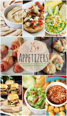 25+ Appetizers - Perfect for New Years parties and get togethers!! { lilluna.com } #appetizers