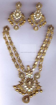 Necklaces / Harams - Gold Jewellery Necklaces / Harams (NK4499FD9069) at USD 5,952.75 And EURO 5,428.80
