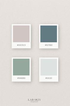 Modern, lieflijk en balas dat zijn de woorden die bij dit prachtige gecombineerde kleurenpalet passen. De kleuren zijn perfect in balans en kunnen veelzijdig ingezet worden. Perfect voor je logo, huisstijl of complete branding. Daarnaast combineren deze kleuren ook prachtig bij een geboortekaartje voor een jongen of meisje maar ook voor je trouwkaart. #branding #huisstijl #logo #geboortekaartje #kleurenpalet #color #groen #blauw #oudroze Color Palette Online, Website Color Palette, Words To Describe, Modern Family, Color Pallets, Wall Colors, Color Inspiration, Branding Design, Gallery Wall