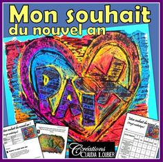 Arts plastiques: Mon souhait du Nouvel An,. by Art with Creations Claudia Loubier Graffiti, Nouvel An, Comic Books, Comics, Arts Plastiques, Wishes For New Year, Wax Crayons, Visual Arts, Projects