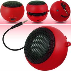 N4U Online N4U Online Red Super Sound Rechargeable Mini Pocket Size Portable Speaker 35Mm Audio Jack Built In With Usb Charger Lead Suitable For Nokia 2330 * Click image to review more details.