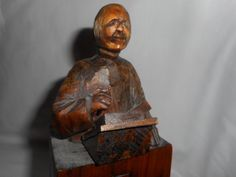 Ottawa Valley Wood Carving Dub Juby. Primitive Folk Art Religious Priest Pulpit