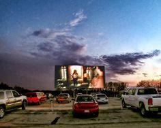 Annual summer event: going to the drive-in theater!  FUN!!!