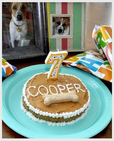 Doggie Birthday Cake Recipe...I just wish he was still with us. I would put a big 12 on top of it and have a huge party.  i miss my Cooper. :(