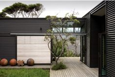 Contemporary use of corrugated iron