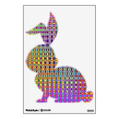 Psychedelia Bunny Rabbit Wall Decal