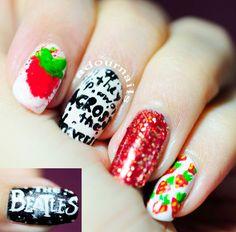 Across the Universe nails #adournails #nailart #notd #avrosstheuniversemovie #beatles #thebeatles