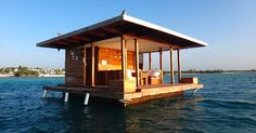 Vacation spots Manta Resort: Underwater Room How to choose contemporary Rattan weather proof Garden Underwater Bedroom, Underwater Hotel, Manta Resort, Floating House, Fish Swimming, How To Get Sleep, Hotel Offers, Outdoor Structures, House Design