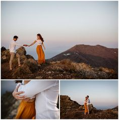 Santorini and it's beautiful villages Oia, Imerovigli and Firostefani are one of the most romantic and dreamiest places to elope and get married. This romantic couple shoot shows the beauty of Santorini on the caldera edge with a view! Santorini Sunset, Santorini Wedding, Romantic Couples, Stunning View, Couple Shoot, Nice View, Getting Married, Photo Shoot, Wedding Day