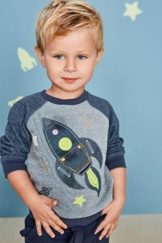 Buy Navy Rocket Appliqué Crew (3mths-6yrs) online today at Next: Rep. of Ireland