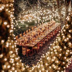 Starry Wedding, Wedding Night, Wedding Ceremony, Magical Wedding, Fall Wedding, Wedding Entrance, Outdoor Wedding Decorations, Light Decorations, Outdoor Weddings