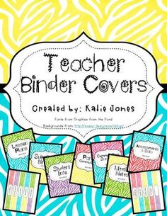 oooo pretty binder covers! :)  I'm determined to be organized next year!