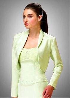 Long Sleeve Jacket Match Prom Dress