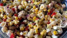 Sałatka z kurczakiem i makaronem Grilled Corn Salad, Vegan Recipes, Snack Recipes, Corn Salads, Grilling, Lunch, Vegetables, Blog, Diet
