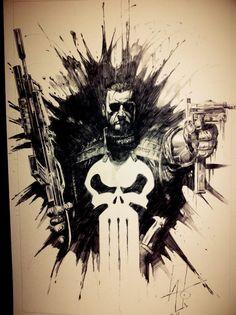 Punisher - Rudy AO Comic Art