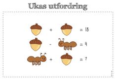 frk linn: ukas utfordring Math Teacher, Teaching Math, Learning Activities, Kids Learning, Math Enrichment, Math Talk, Math Challenge, Math Problem Solving, Picture Puzzles