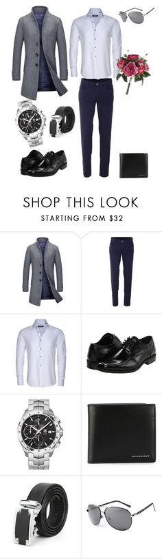 """After-business Time :-)"" by soloveynatalie ❤ liked on Polyvore featuring Trussardi, Stone Rose, Stacy Adams, TAG Heuer, Burberry, men's fashion and menswear"