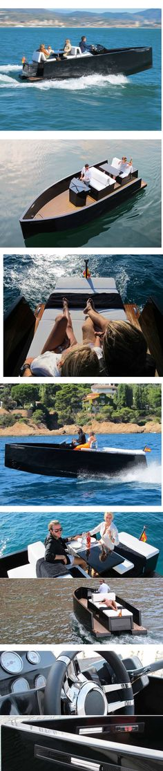 De Antonio Yachts D23 motor #boat with hidden outboard is ideal for day trips #Luxury