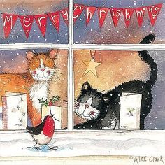 Alex Clark CHRISTMAS Pack Of 5 Cards