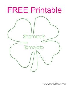 Free Shamrock Printable – for super fun shamrock crafts for kids! Our Knight Lif… Free Shamrock Printable – for super fun shamrock crafts for kids! Shamrock Printable, Shamrock Template, March Crafts, St Patrick's Day Crafts, Cd Crafts, Felt Crafts, Classroom Crafts, Preschool Crafts, St Patricks Day Crafts For Kids