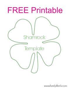 Free Shamrock Printable – for super fun shamrock crafts for kids! Our Knight Lif… Free Shamrock Printable – for super fun shamrock crafts for kids! Shamrock Printable, Shamrock Template, March Crafts, St Patrick's Day Crafts, Cd Crafts, Felt Crafts, Classroom Crafts, Preschool Crafts, Preschool Jungle
