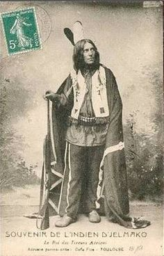 """1880s Wild West show sharp shooter cabinet card. """"King of Sharp Shooters"""""""