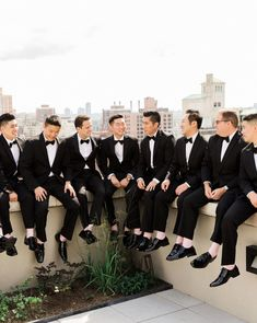 It's raining men! We rounded up some of our favorite styles sported by groomsmen in our Real Weddings, including sophisticated tuxedos, suspenders, casual ties, and vests. Wedding Picture Poses, Wedding Poses, Wedding Photoshoot, Wedding Suits, Wedding Attire, Cute Wedding Ideas, Wedding Inspiration, Theme Color, Dream Wedding Dresses